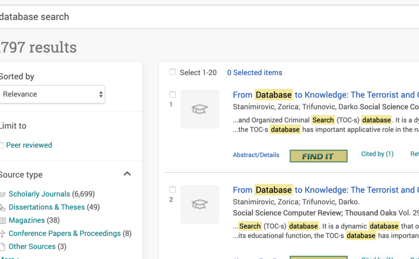 Database Search Basics
